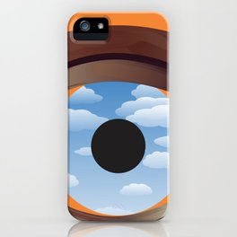 magritte's eye iPhone Case