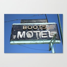 Route 66 - Boots Motel 2010 Canvas Print