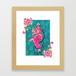 Indian Dancer Framed Art Print