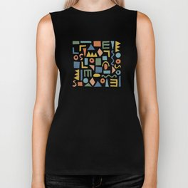 Colorful Shapes Biker Tank