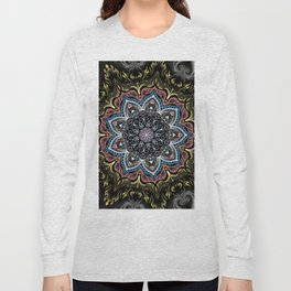 Burning Butterfly Mandala Long Sleeve T-shirt