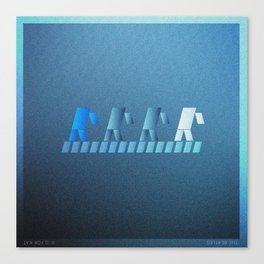 Music in Monogeometry : Band crossing a street Canvas Print