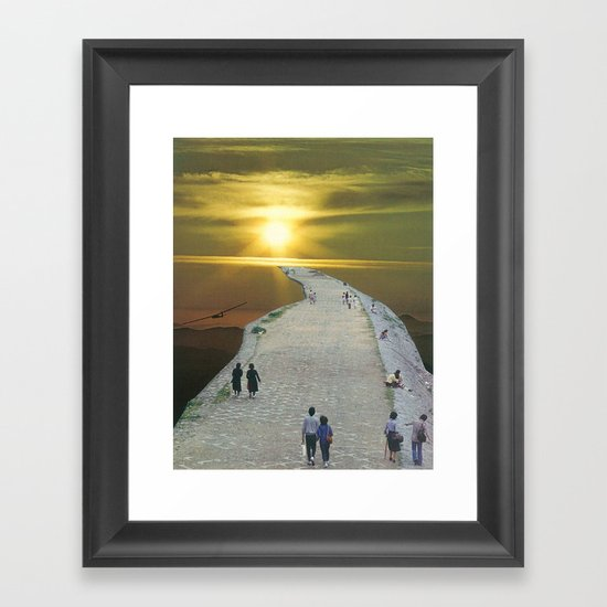 go for a walk in the park Framed Art Print