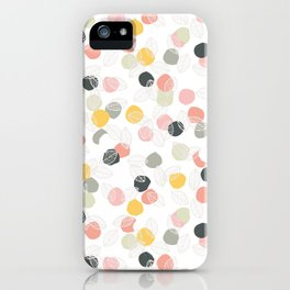 Dots and leaves iPhone Case