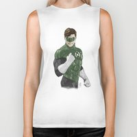 green lantern Biker Tanks featuring Green Lantern by Alex Heuchert
