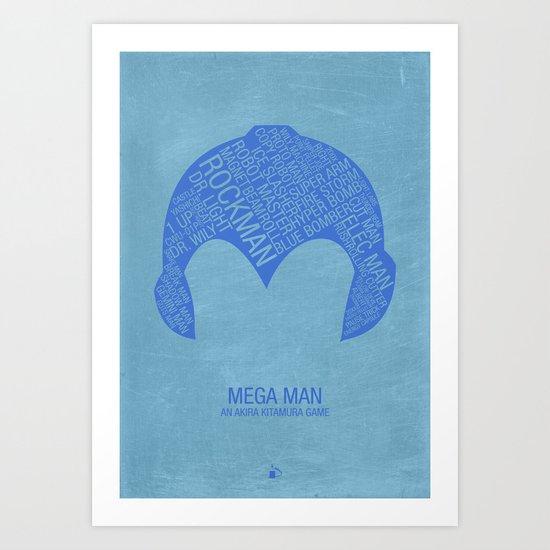 Mega Man Typography Art Print