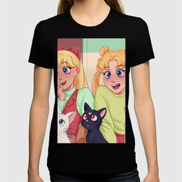 Happy Usagi and Minako T-shirt