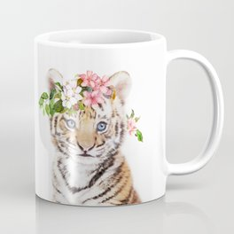 Tiger Cub with Flower Crown Coffee Mug