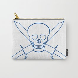Skull and Cutlasses In Outline Carry-All Pouch