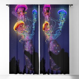 Electric Jellyfish World Released Blackout Curtain