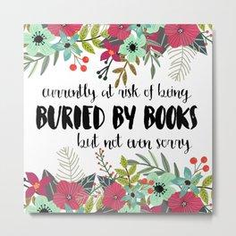 Buried By Books Metal Print