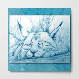 Bobcat nap Metal Print