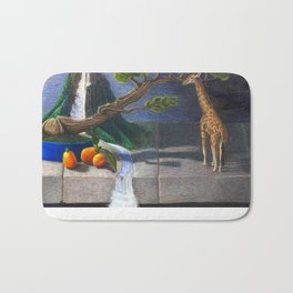 Still Life With Kumquats and Giraffe Bath Mat