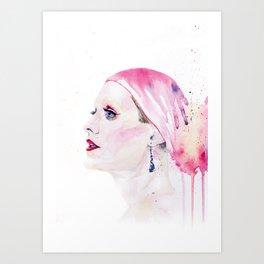 Rayon | Jared Leto in Dallas Buyers Club | Watercolor Portrait Art Print
