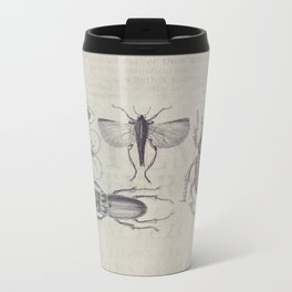 Vintage Beetles And Bugs Metal Travel Mug