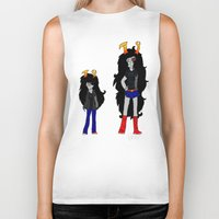 homestuck Biker Tanks featuring Vriska by Darkerin Drachen