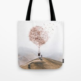 Flying Dandelion Tote Bag