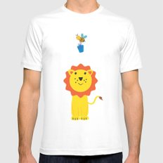 Lion and bee MEDIUM White Mens Fitted Tee