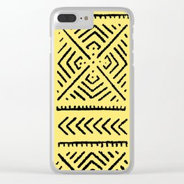 Line Mud Cloth // Yellow Clear iPhone Case