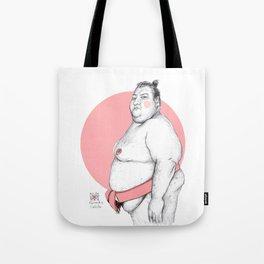 Sumo Wrestler Tote Bag