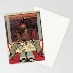 Raccoon Diners Stationery Cards