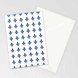 Blue Fleur De Lis Print Stationery Cards