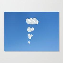 Saudade (White balloons) Canvas Print