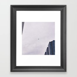 Airplanes Above Framed Art Print