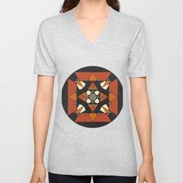 Mandala earth colors Unisex V-Neck