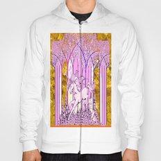 Pink & Gold  Unicorn Fantasy Abstract Hoody