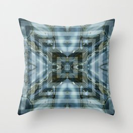 Geometric marbled stylish art squares design for home ornament. Throw Pillow