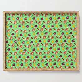 Hammy Pattern in Pale Green Serving Tray