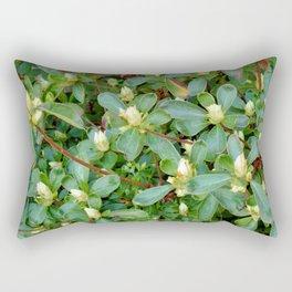 White Azalea Buds Rectangular Pillow