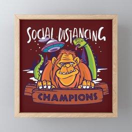 Social Distancing  Framed Mini Art Print
