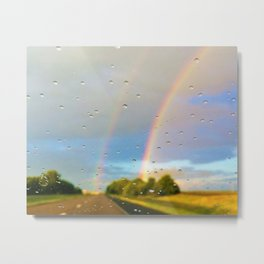 Rainbows and Rainy Windshields Metal Print