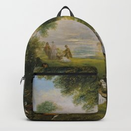 Antoine Watteau - A Halt During the Chase Backpack