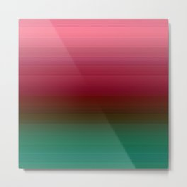 The red-and-green striped Ombre Metal Print