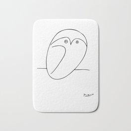 The Owl, Pablo PIcasso sketch drawing, line Design Bath Mat