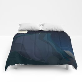 fairy landscape (at night) Comforters