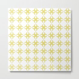 Abstract geometric pattern yellow Metal Print