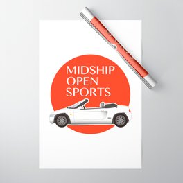 Midship Open Sports Wrapping Paper