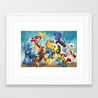mlp Framed Art Prints featuring MLP X-Men by Kimball Gray