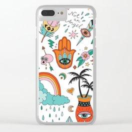 Wild things beach Clear iPhone Case
