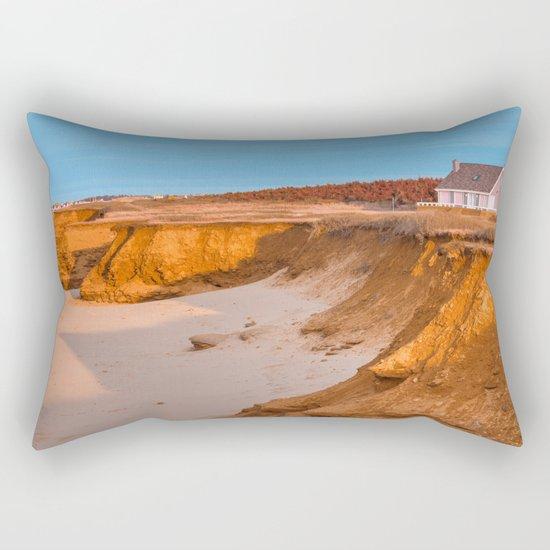 Thunder Cove Beach Cliffs - Golden Pastel Hour Rectangular Pillow