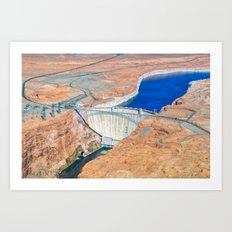 Glen Canyon Dam II Art Print