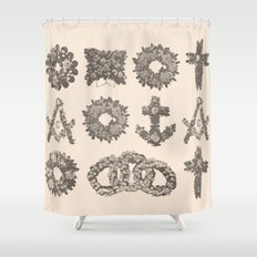 Funeral Wreaths Shower Curtain