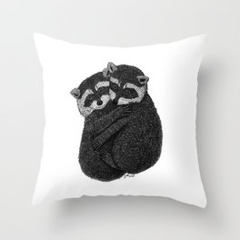 Raccoons In Love Throw Pillow