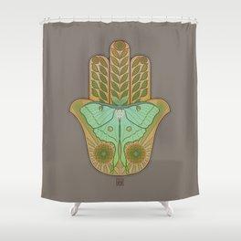 Luna Hamsa Shower Curtain