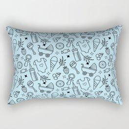 Pacify Me Blue Rectangular Pillow