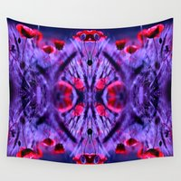 poppies Wall Tapestries featuring poppies by haroulita